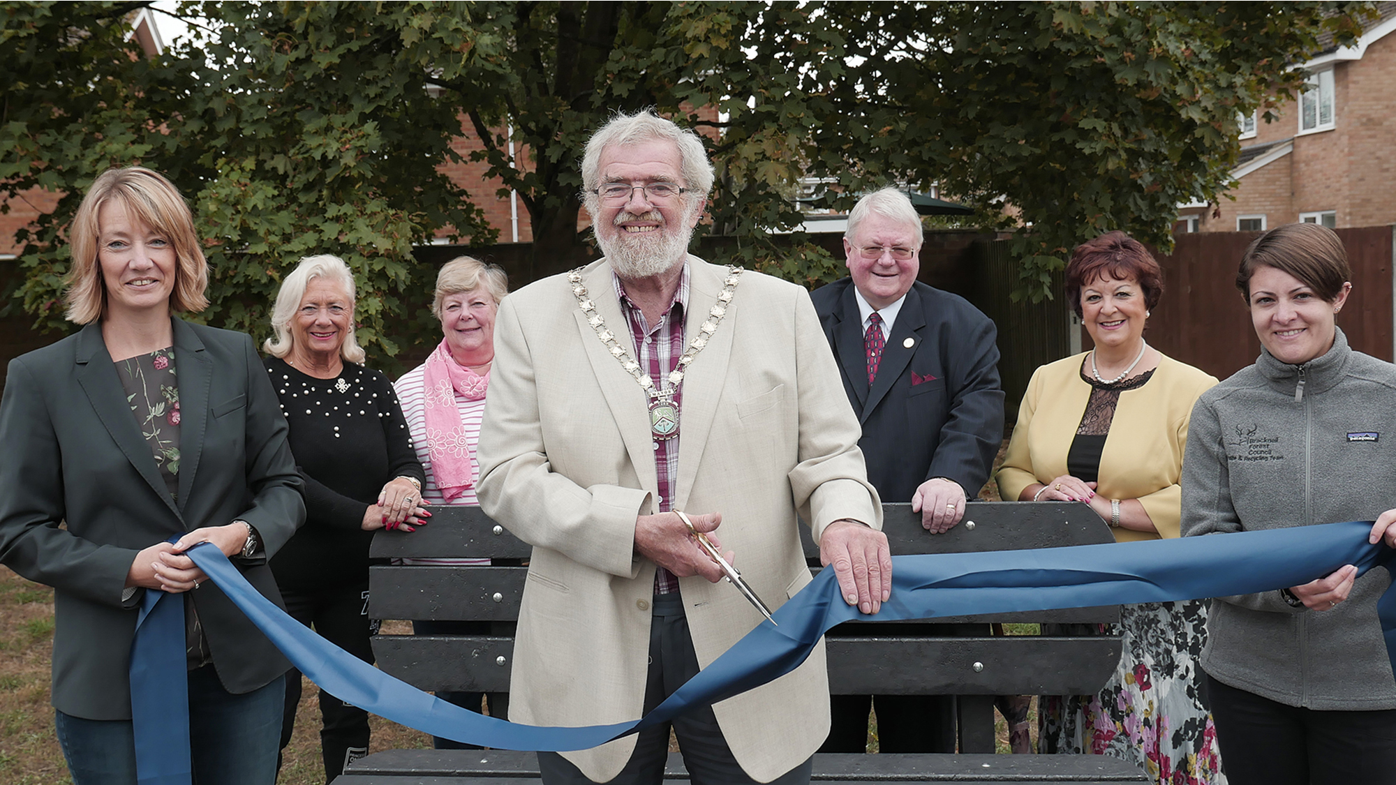 Bracknell Forest Council bench unveiling
