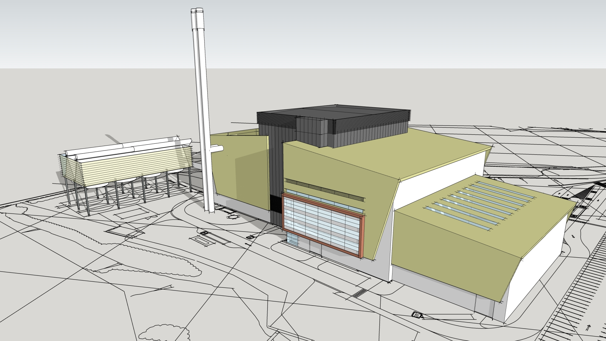 Darwen energy recovery centre artist illustration
