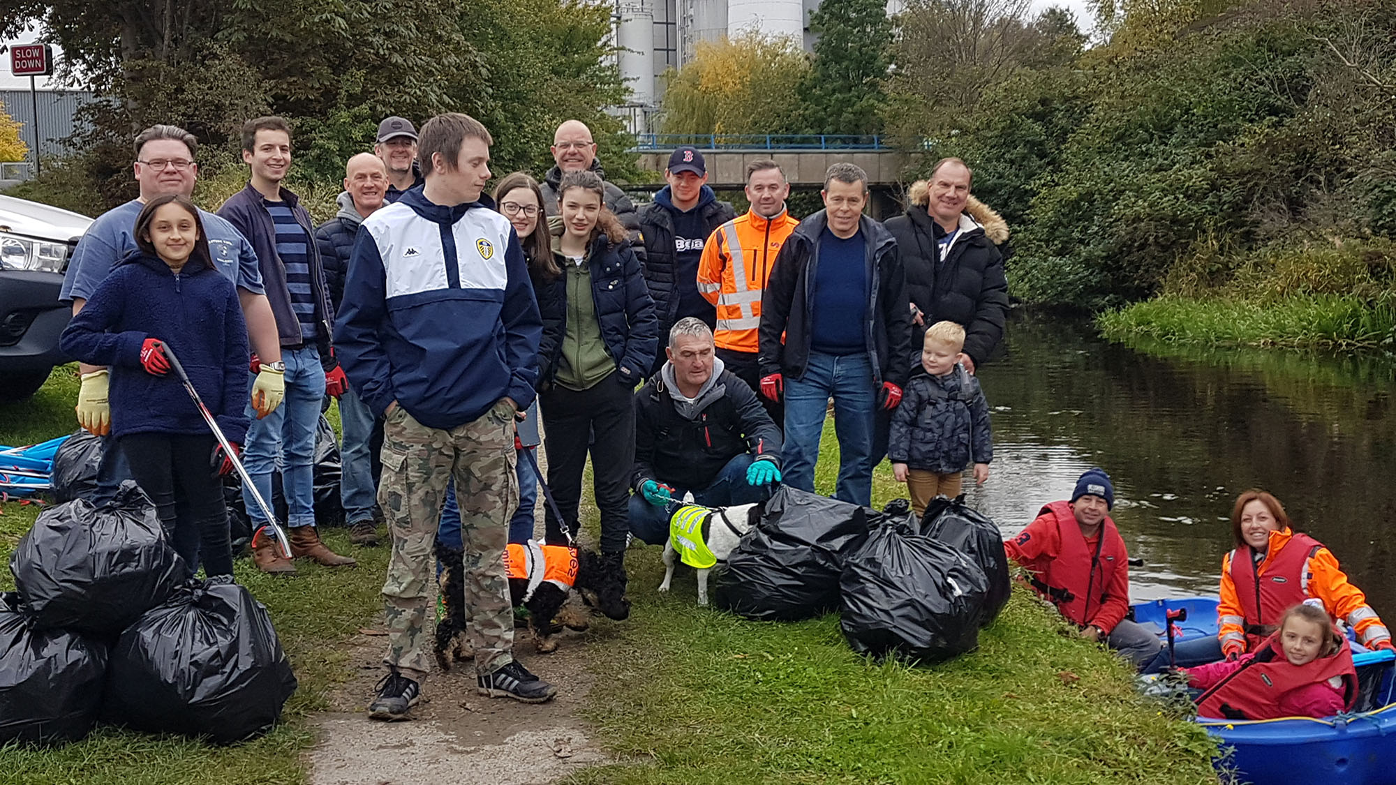 Huddersfield Canal clean up 191020