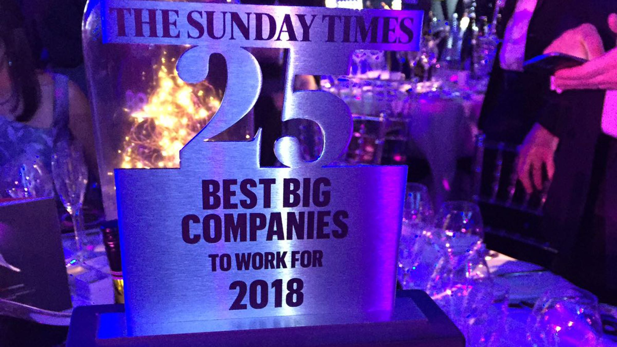 The Sunday Times 25 Best Big Companies to Work For 2018
