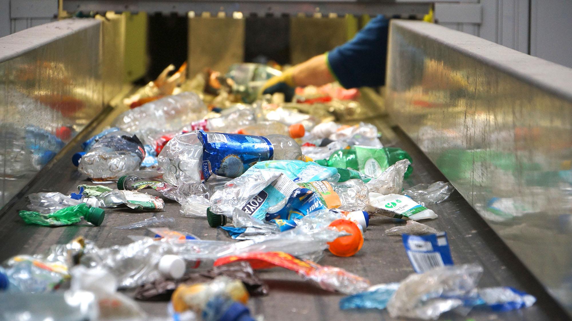 West Sleekburn materials recycling facility conveyor