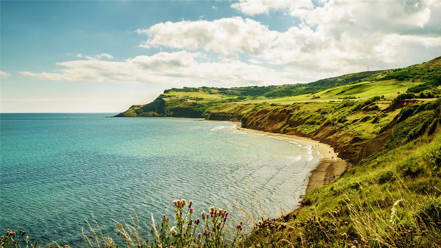 English landscape view of Yorkshire coast