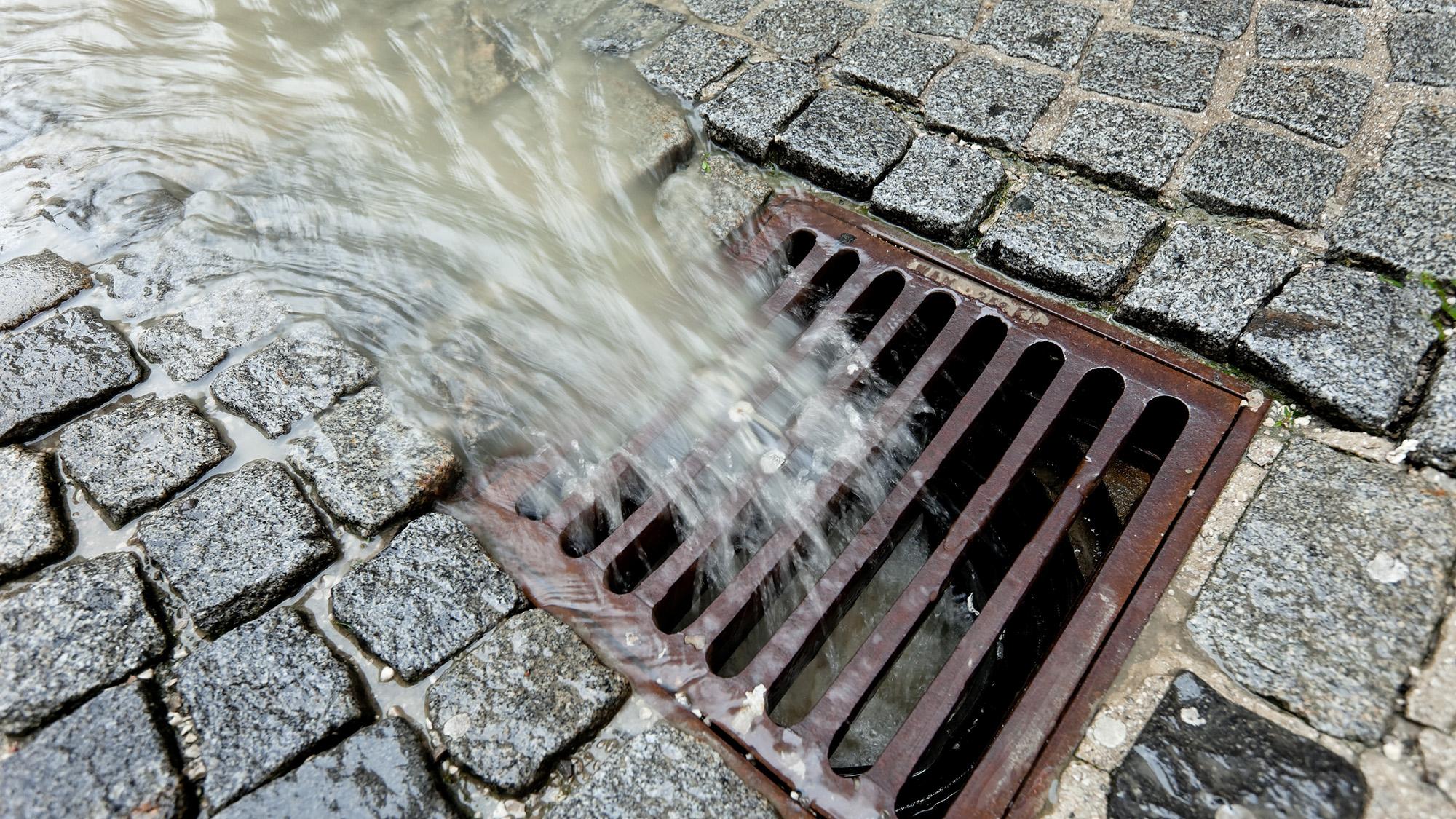 Flooded drain