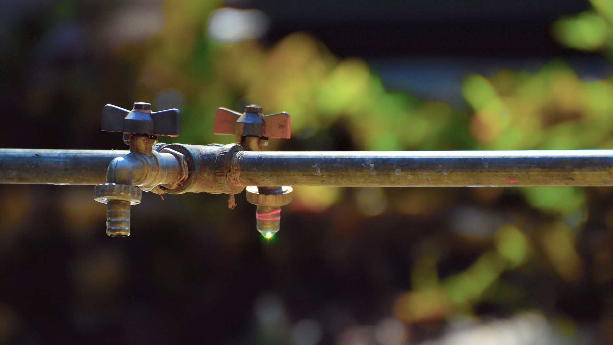 Dripping water pipe