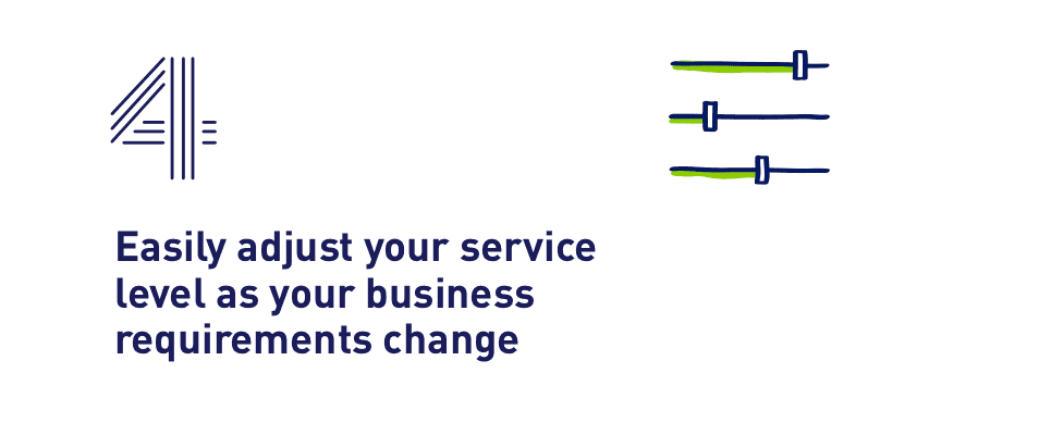 4. Easily adjust your service level as your business requirements change