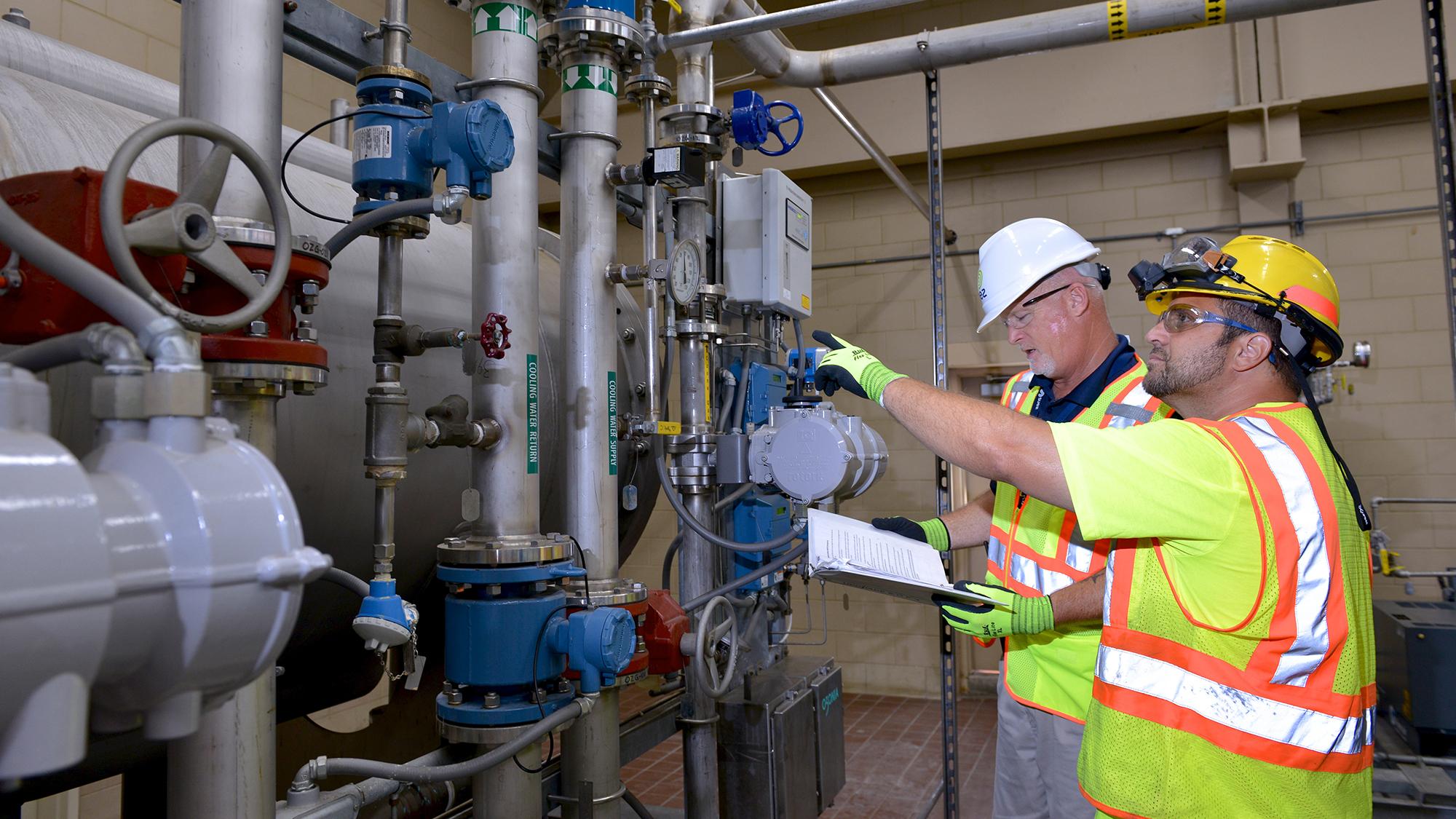 water treatment header
